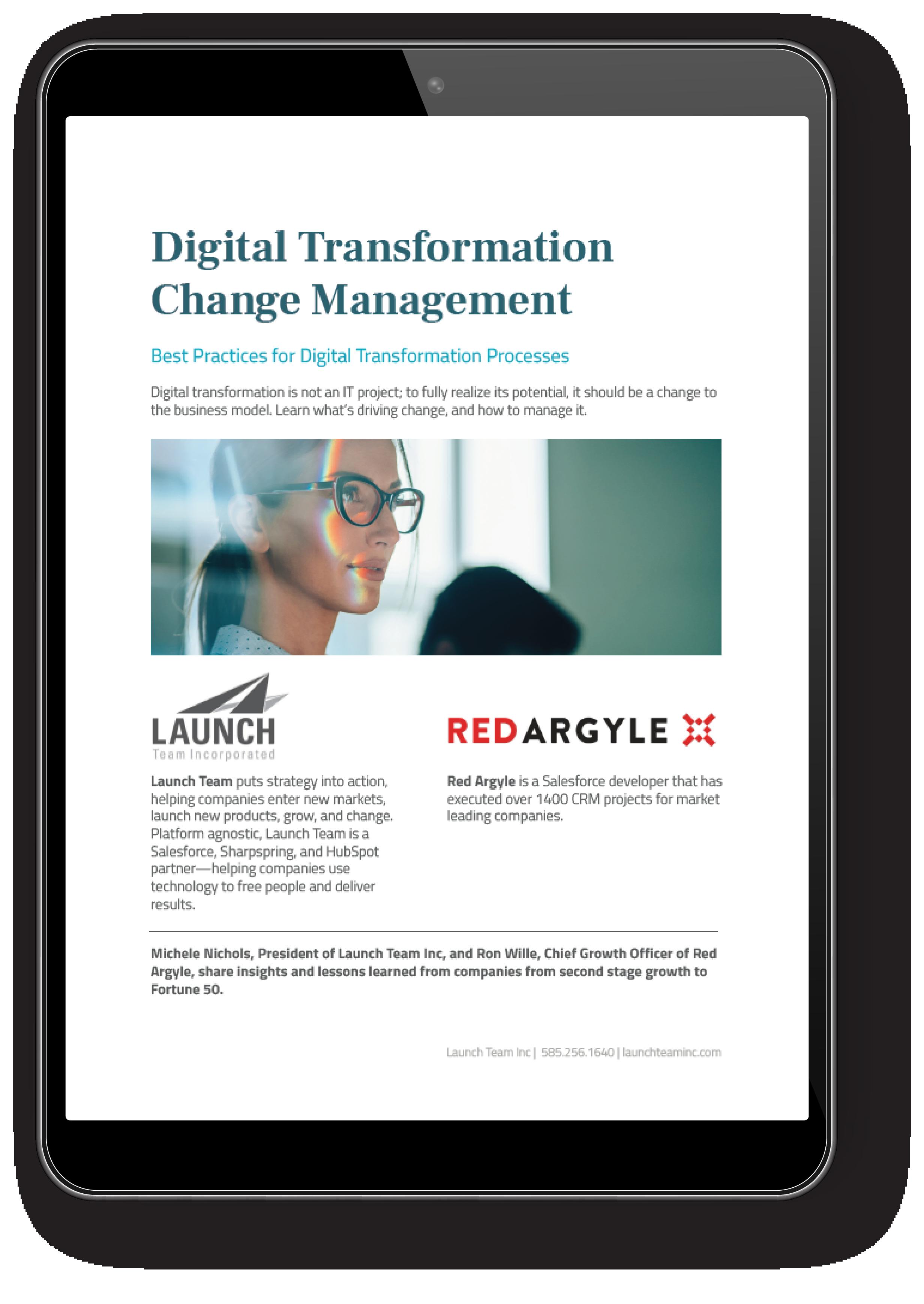 digital transformation ebook in ipad