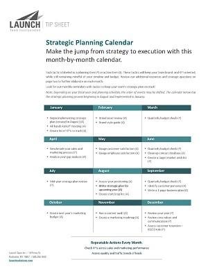 strategic planning calendar